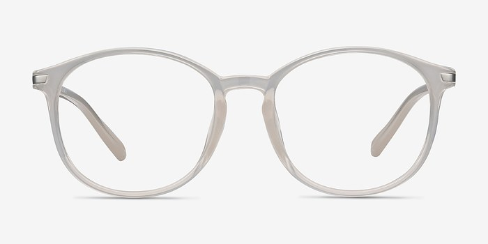 Clear White Lindsey -  Metal Eyeglasses