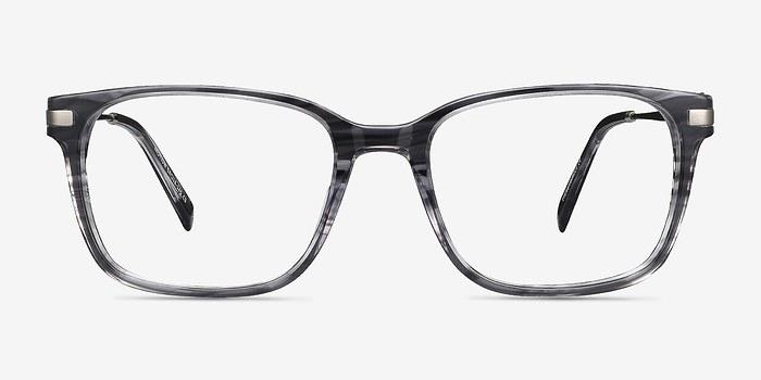 Gray Striped Motion -  Acetate Eyeglasses