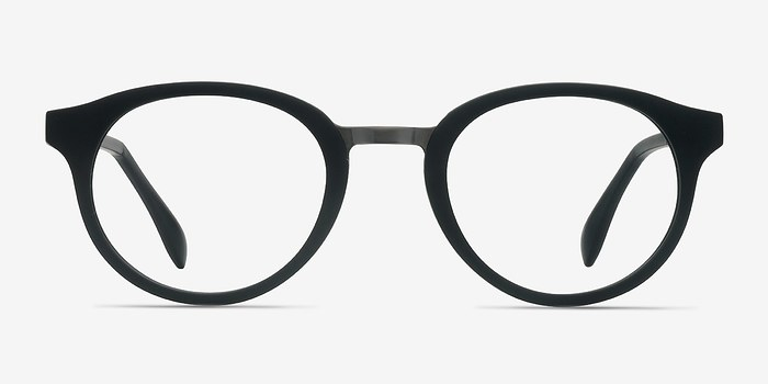 Matte Black Aisu -  Metal Eyeglasses