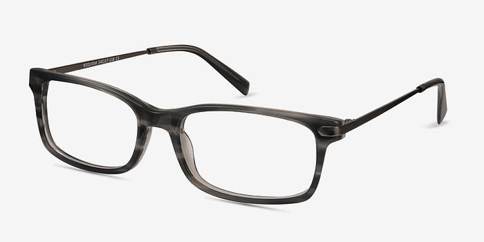 EyeBuyDirect Requiem Gray Striped Acetate Eyeglasses