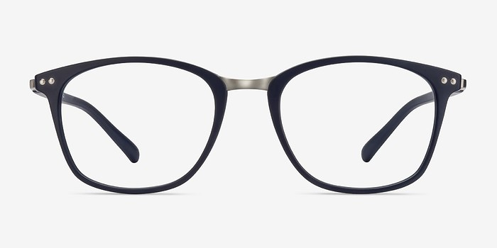 Matte Navy Savannah -  Metal Eyeglasses