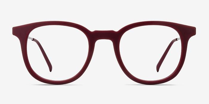Matte Scarlet Chance -  Vintage Metal Eyeglasses
