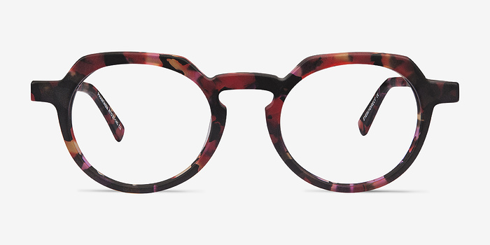 Speckled rose Phantasm -  Vintage Acetate Eyeglasses