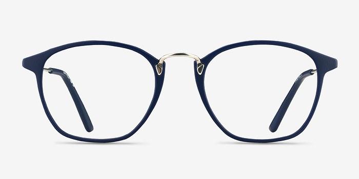 Matte Navy Crave -  Vintage Metal Eyeglasses