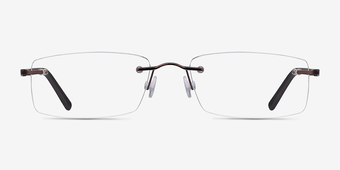 Brown Edison -  Lightweight Metal Eyeglasses