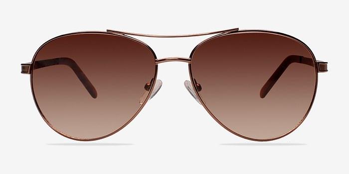 Brown Everett -  Metal Sunglasses