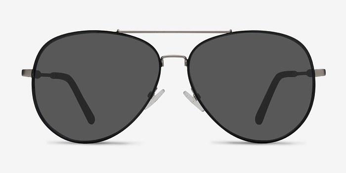 Black Silver  Camp -  Metal Sunglasses
