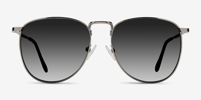 Silver Fume -  Metal Sunglasses