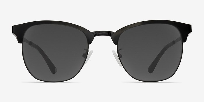 Black Veil -  Vintage Metal Sunglasses