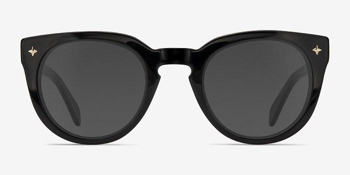 Black Zoe -  Plastic Sunglasses