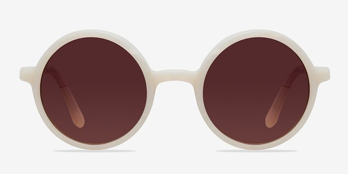 White Alena -  Vintage Acetate Sunglasses