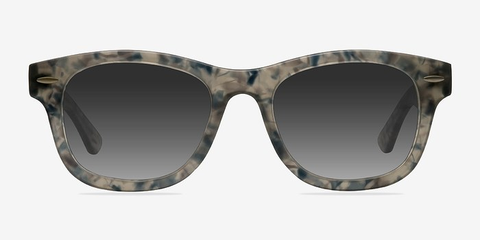 Clear Floral Hanoi -  Acetate Sunglasses