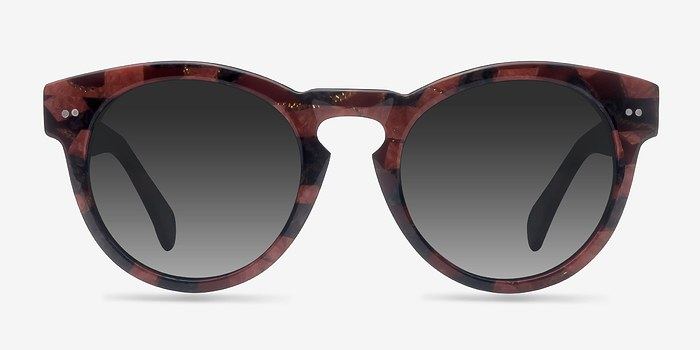 Red Floral Penelope -  Acetate Sunglasses