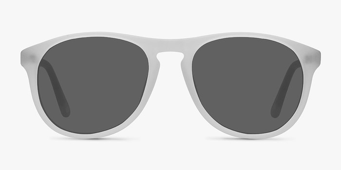 Matte Clear Silt -  Acetate Sunglasses