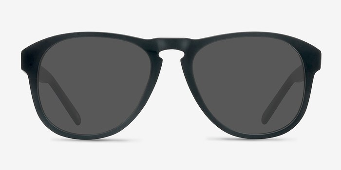 Matte Black Phased -  Acetate Sunglasses