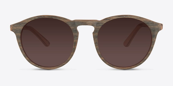 Dark Walnut Air -  Wood Texture Sunglasses