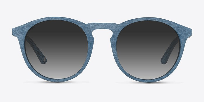 Blue Air -  Wood Texture Sunglasses