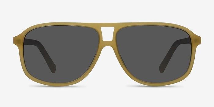 Matte Yellow Bart -  Acetate Sunglasses