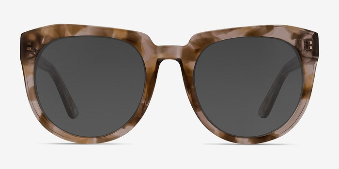 Brown Floral Laohu -  Acetate Sunglasses