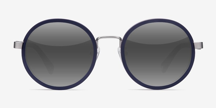 Matte Navy Bounce -  Acetate Sunglasses