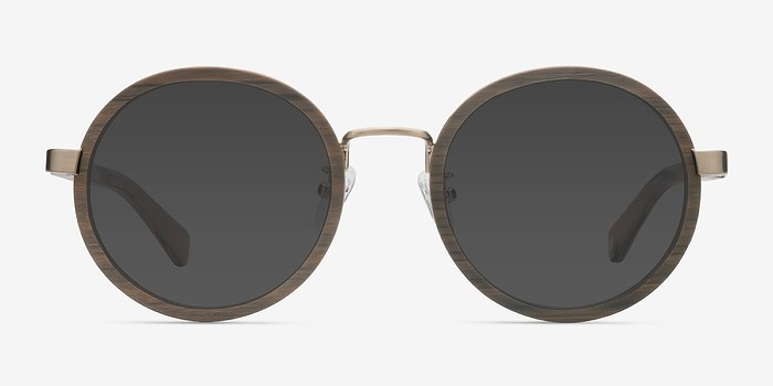 Brown Bounce -  Vintage Wood Texture Sunglasses