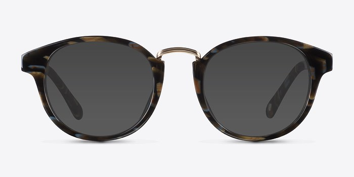 Brown Floral Major -  Acetate Sunglasses