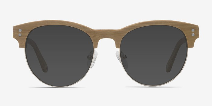 Yellow College -  Wood Texture Sunglasses