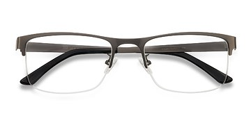 Gunmetal Grip -  Metal Eyeglasses