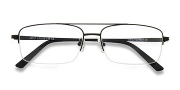 Black Inlet -  Metal Eyeglasses