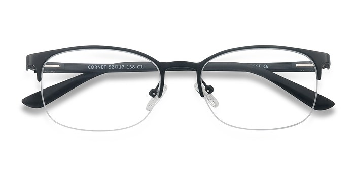 Black Cornet -  Metal Eyeglasses