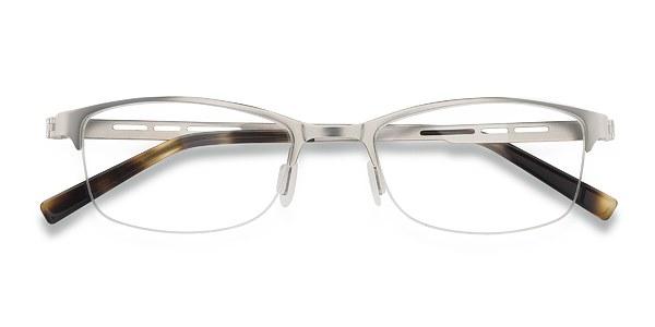 Men's Pearl - Silver browline rectangle metal - 18295 Sil...