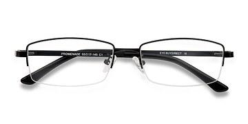 Black Promenade -  Metal Eyeglasses