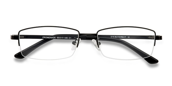 Black Promenade -  Metal Eyeglasses