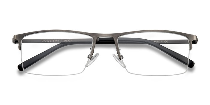 Gunmetal Carve -  Metal Eyeglasses