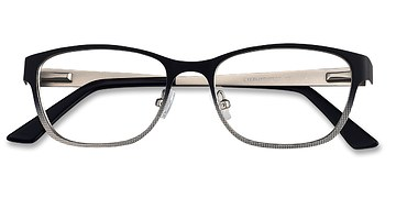 Black Adrien -  Fashion Metal Eyeglasses