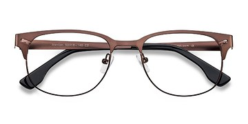 Coffee Merrion -  Fashion Metal Eyeglasses