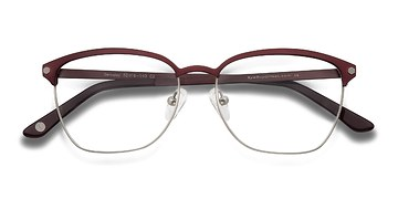 Burgundy Berkeley -  Fashion Metal Eyeglasses