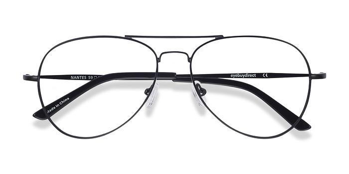 Black Nantes -  Classic Metal Eyeglasses