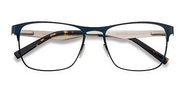 Navy Bethnal Green -  Metal Eyeglasses