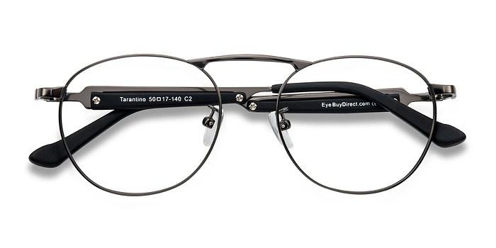 Gunmetal Tarantino -  Classic Metal Eyeglasses