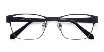 Black Silver Admire -  Fashion Metal Eyeglasses