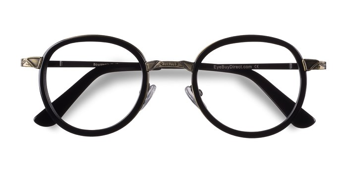 Black Bourgeois -  Vintage Metal Eyeglasses