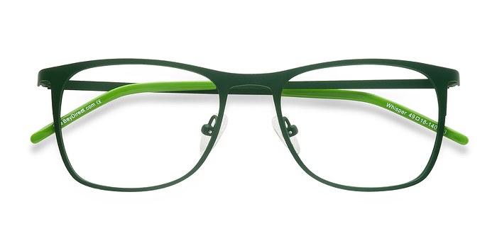 Matte Green Whisper -  Metal Eyeglasses