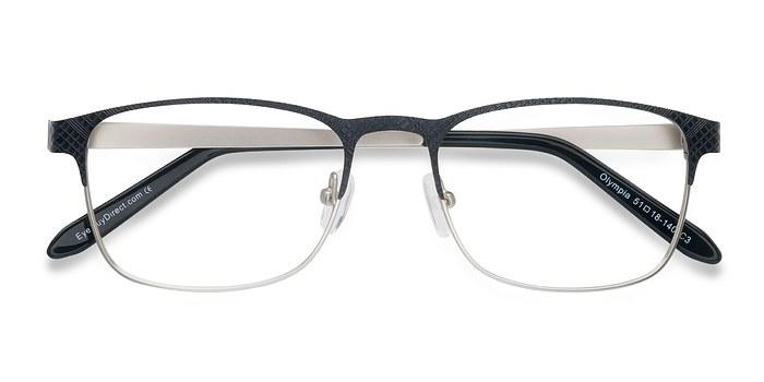 Black Silver Olympia -  Metal Eyeglasses