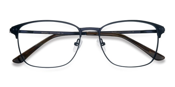 Navy Arcadian -  Metal Eyeglasses