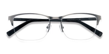 Matte Silver Time -  Metal Eyeglasses