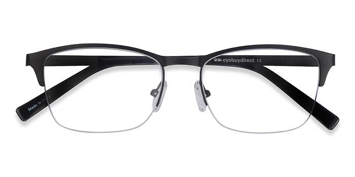 Black Time -  Metal Eyeglasses