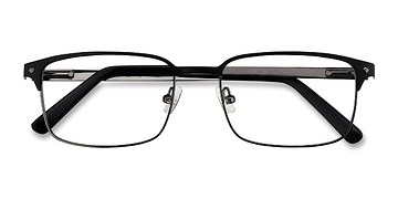 Black Normandy -  Metal Eyeglasses