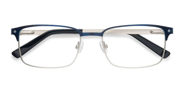 Navy Normandy -  Fashion Metal Eyeglasses