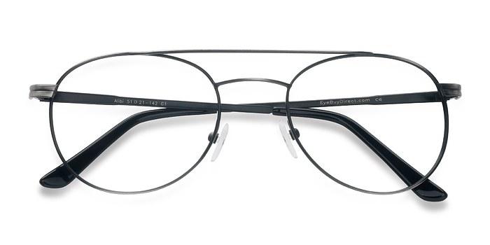 Gunmetal Alibi -  Metal Eyeglasses